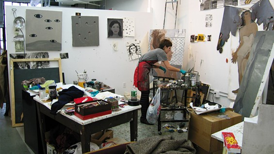An artist's studio at The Cooper Union School of Art