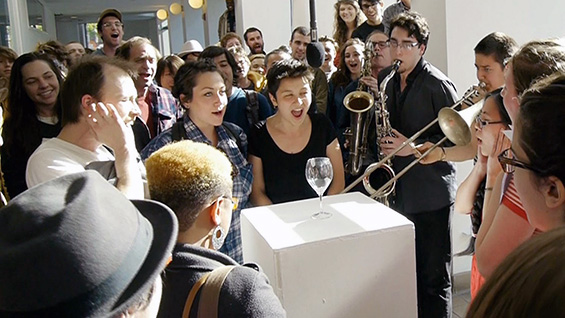 'Loudmouth,' a 2012 performance work by Jasmine Stein. Photo courtesy of Jasmine Stein
