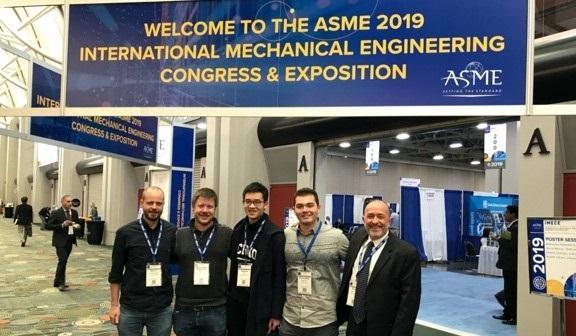 From left to right: Prof. Dirk Luchtenburg, Thorstein Rykkje, Sam Chen, Christopher Mignano, and Prof. Thomas Impelluso