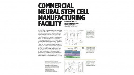 [STUDENT POSTER] COMMERCIAL NEURAL STEM CELL MANUFACTURING FACILITY