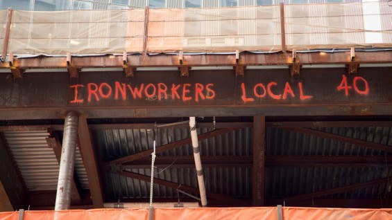 Ironworkers from Local 40 make their mark at the World Trade Center site.