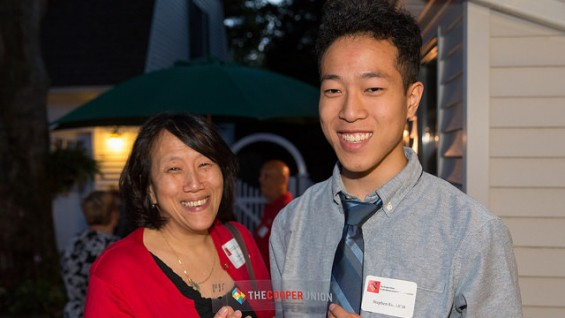 Wendy Ku with her son, Stephen Ku AR'19