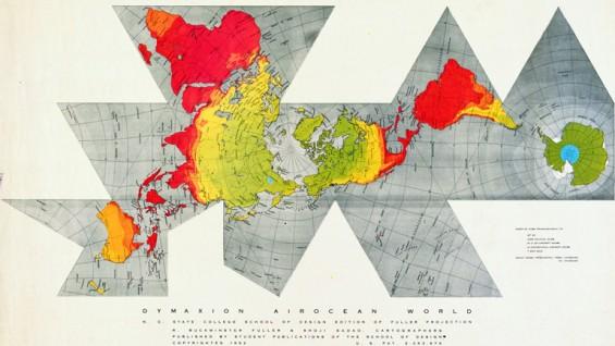 Dymaxion Airocean World, R. Buckminster Fuller & Shoji Sadao, 1952
