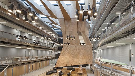Architects: NADAAA and John Wardle Architects. Melbourne School of Design, University of Melbourne, Melbourne, Australia. Image Credit: John Horner, 2016