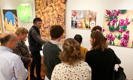 Students and faculty tour the Cooper Hewitt Museum. Trustee, Kevin Slavin, served as a guide on the tour.