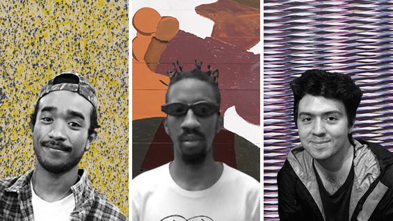 Lucien Smith, Torey Thornton & Travess Smalley. Photos courtesy of the artists