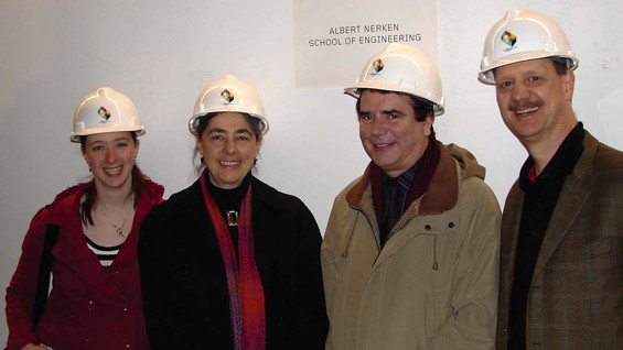 From left: Samantha Karpinski, Sara Nerken, Simon Ben-Avi, Robert Karpinski