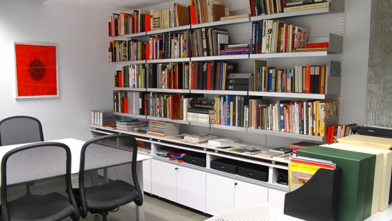 The Herb Lubalin Study Center's resource room and library