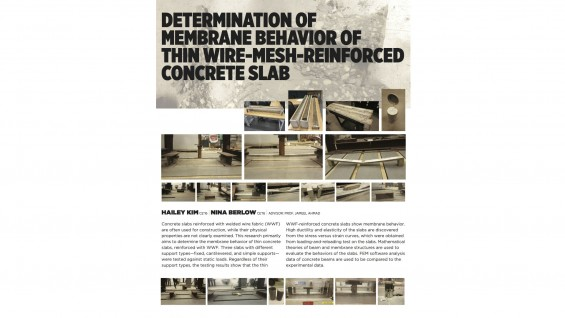 [STUDENT POSTER] DETERMINATION OF MEMBRANE BEHAVIOR OF THIN WIRE-MESH-REINFORCED CONCRETE SLAB