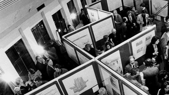 film still, The Making of an Avant-garde: IAUS 1967-1984