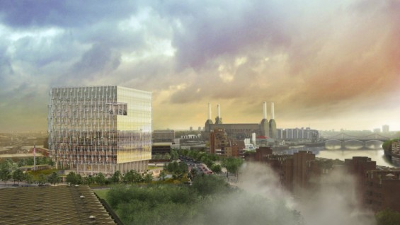 Rendering of New U.S. Embassy in London, view from east | courtesy of KieranTimberlake