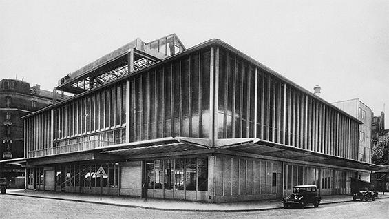 Eugène Beaudouin, Marcel Lods, Vladimir Bodiansky and Jean Prouvé, Maison du peuple, Clichy-la-Garenne, 1935-1940, Encyclopédie de l'architecture: Constructions modernes 12 (1939)