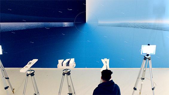 Byblos Blue Installation, Valparaiso Biennale, 2017. Photo by Daniella Samira Maamari.