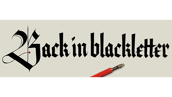 Back In Black Letter Calligraphy Workshop With Grendl Lofkvist