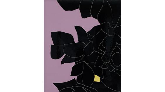'Black Flower 3' (2014). Gary Hume. Photo: Jack Hems courtesy of Blackbird Pictures Ltd.