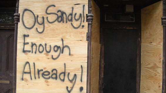 A message to Sandy (photo courtesy Brooke A. Bryant, Major Gifts Officer)