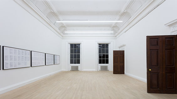 Cameron Rowland, 3 & 4 Will. IV c. 73, Institute of Contemporary Arts, London, 2020 Installation view, Courtesy of the Artist.