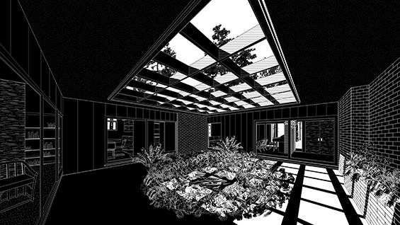 Interior Perspective 1, Chase House. Image courtesy of David Heymann.