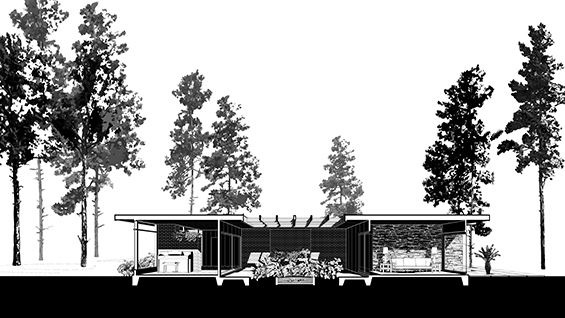 Section, Chase House. Image courtesy of David Heymann.