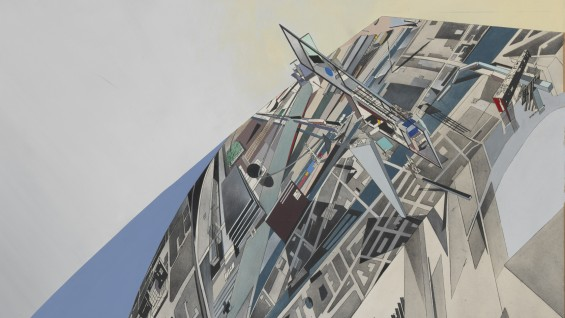 Detail: Zaha Hadid, The World (89 Degrees), 1984.
