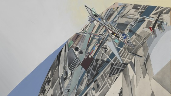 Detail: Zaha Hadid, The World (89 Degrees), 1984