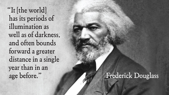 Excerpt from Frederick Douglass's 1863 speech given in the Great Hall