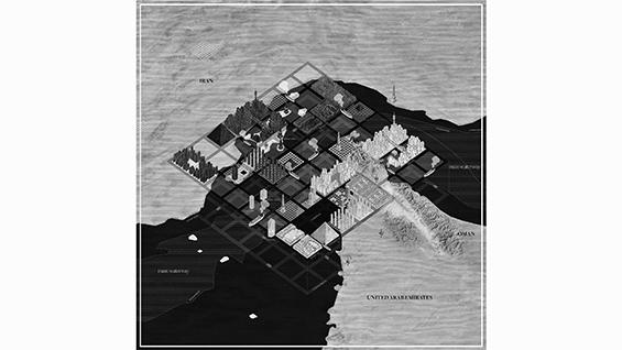 "Design Earth: ""Strait of Hormuz Grand Chessboard,"" After Oil, 2016."
