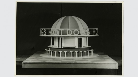 Hot Dog Stand Design, World's Fair, 1939.