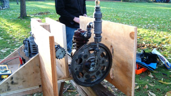 Julien Caubel (ME'12) designed a bio-waste powered engine for rural communities in Ghana.