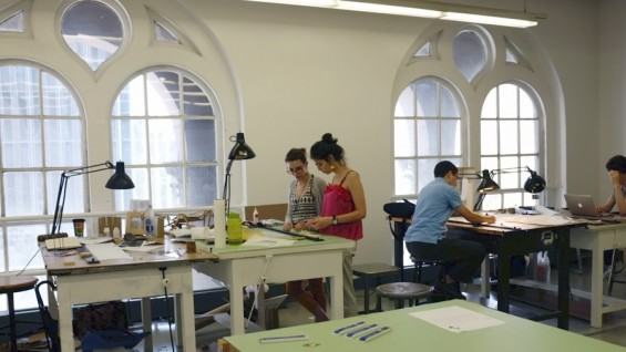 Inside The Cooper Union studio