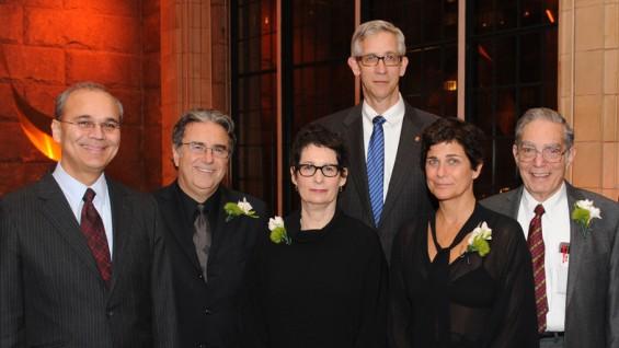 From left: President Jamshed Bharucha, Lee Skolnick, Carin Goldberg, John Leeper, Lisa Fischetti, Morton Lippmann