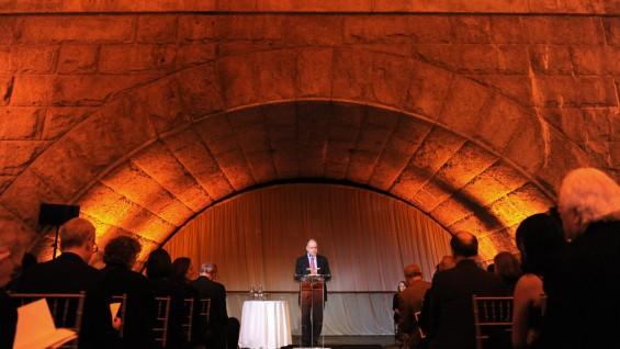 Alumni Association President Peter Cafiero (CE'83) in the landmark Guastavino's