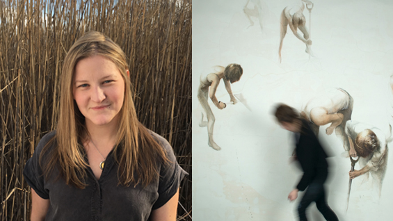 Daina Mattis AIR'16 - Pushing Mud, 2011, graphite, silkscreen & oil on paper.
