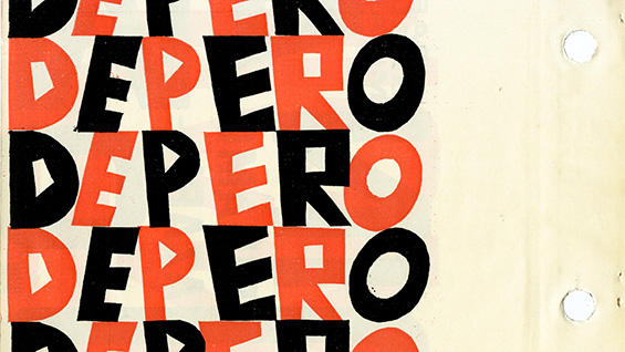 "A detail from a page of ""Depero Futurista"""