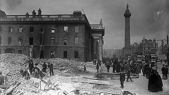 The gutted General Post Office, Dublin, May(?) 1916. Keogh Brothers Ltd., photographers via National Library of Ireland