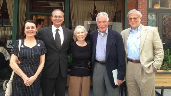 From left: Jeanne Lunin, Jamshed Bharucha, Joan Morris, Ed Durbin and Derek Wittner