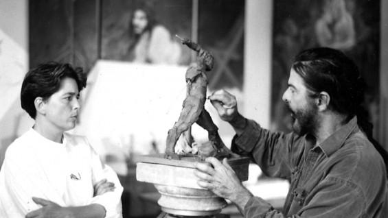 Ersy Schwartz and George Dureau. Photo courtesy of Arthur Roger Gallery
