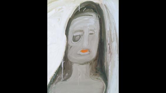 Eva Hesse, No Title (detail), 1960. Oil on canvas.