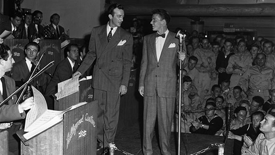 Singing with the Harry James Band at the Hollywood Canteen in August 1943. Photo courtesy of CBS Photo Archive/ Getty Images