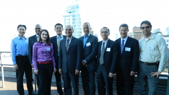 Members of the host committee with President Jamshed Bharucha and Chairman Mark Epstein