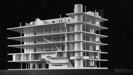 Model of the Interior Renovation of the Foundation Building by John Hejduk. c. 1971.