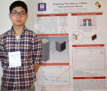 Peter Zhao (ChE'20) with his Research Poster