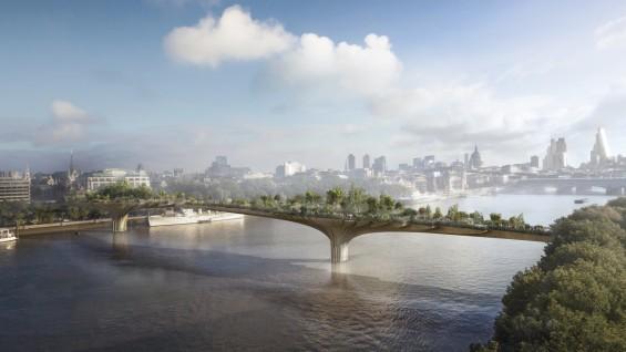 Garden Bridge, London, 2012-18, Heatherwick Studio. Credit: Arup  Copyright: Arup