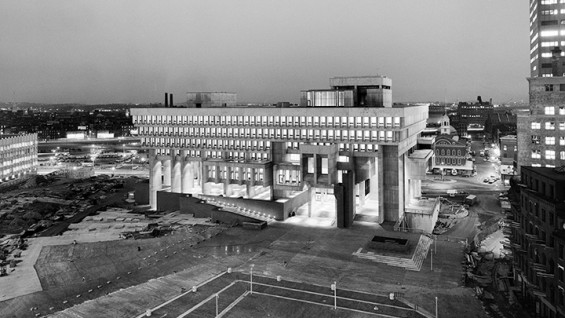 Kallman, McKinnell & Knowles, Boston City Hall plaza, 1962–69. Photo: © Ezra Stoller/Esto