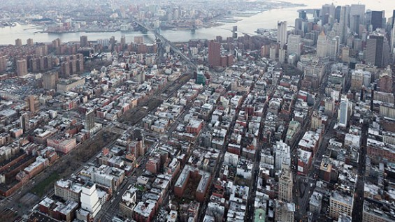 Aerial series of downtown Manhattan and New Museum (bottom left) for IDEAS CITY. ©Iwan Baan, 2013