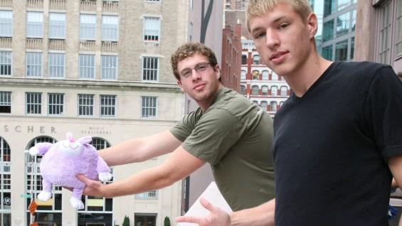 Matt Kaufman and Eugen Sokolov with Mr. Snuffles