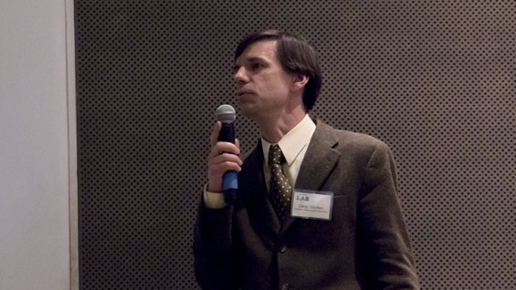 """Prof. David Wootton speaking at the """"From the Lab"""" event"""