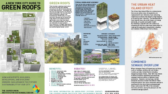 A new york city guide to green roofs the cooper union for Sustainable roofing materials
