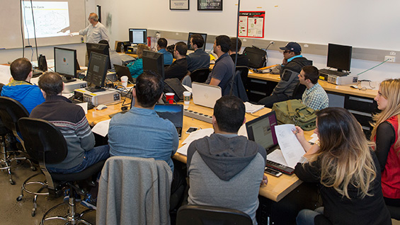 Students of the Software Quality Assurance class. Photos by Joao Enxuto/The Cooper Union
