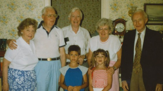 Jane Deed (far left) with family members including Donald Deed at far right